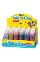 AM GCL22D24: Amos Glitter Glue 6 Colours - Display Box